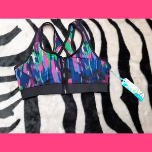 🌌Colorful Aviva Sports Bra BNWT